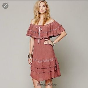 Jen's pirate booty athena off the shoulder dress